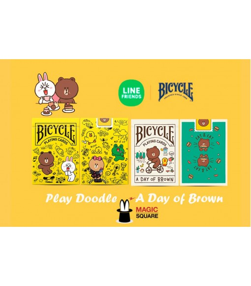 BICYCLE LINE FRIENDS PLAYING CARDS SET V2